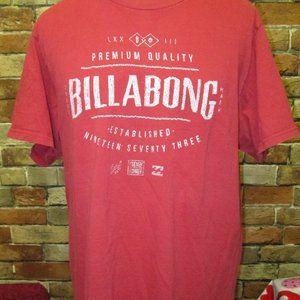 Men's XL Billabong Tee shirt Red